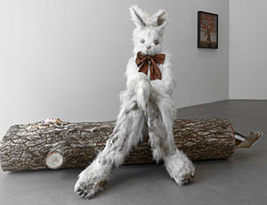 'Log Lady & Dirty Bunny' (2009) by Marnie Weber