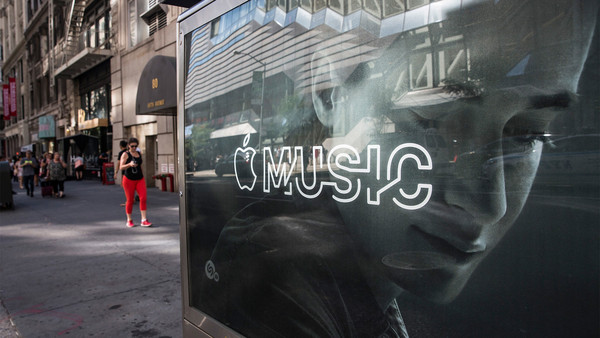 An advertisement for Apple Music