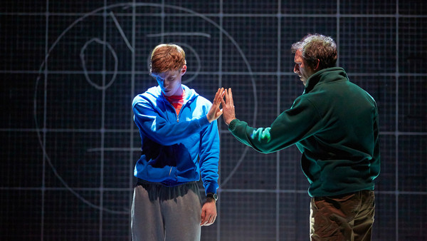 Luke Treadaway as Christopher (left) with Sean Gleeson as Ed in 'The Curious Incident ... '