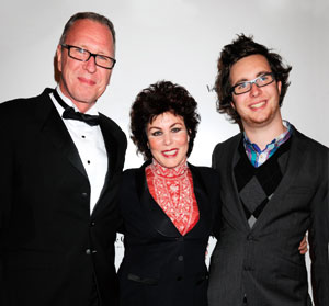Ruby Wax with husband Ed Bye and son Max in 2011