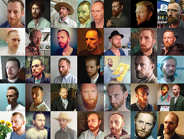 Some of the respondents to Douglas Coupland's casting call to find Van Gogh's living doppelgänger