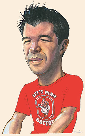 Illustration by James Ferguson of Travis Kalanick
