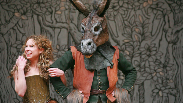 Michelle Terry as Titania and Pearce Quigley as Bottom in 'A Midsummer Night's Dream'