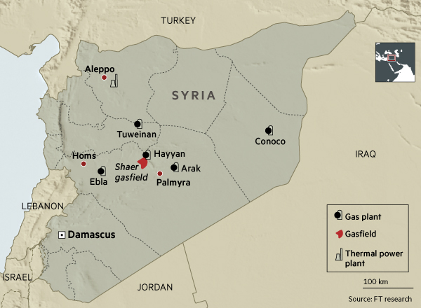 Isis Syria gas map