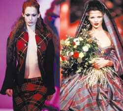Alexander McQueen Highland Rape collection 1995, Kate Moss