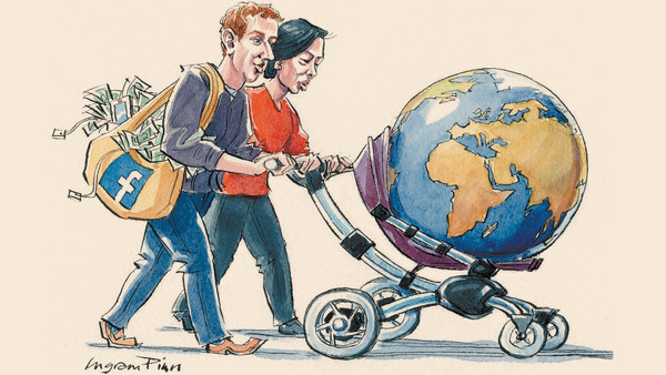 Ingram Pinn illustration, Mark Zuckerberg family