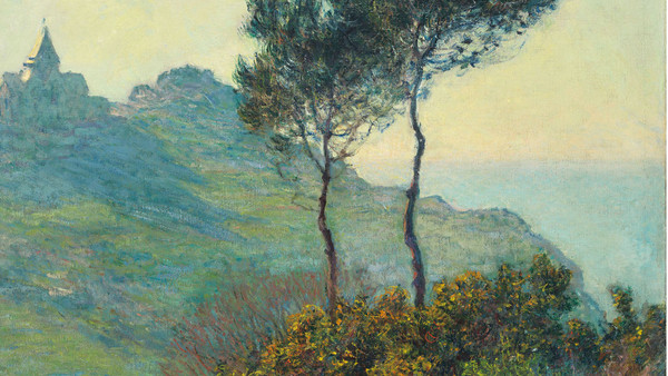 Monet's 'L'église de Varengeville; soleil couchant' (detail) (1882), unseen for more than a century, is at Dickinson
