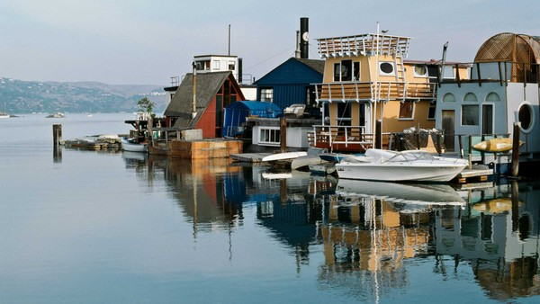 Sausalito near San Francisco has been home to houseboats since the 19th century