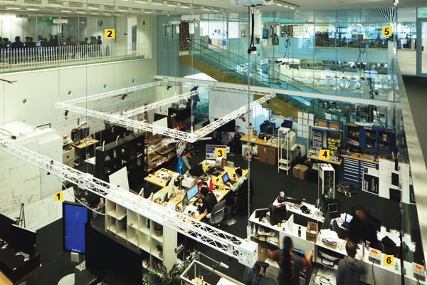 An overview of the MIT Media Lab work area