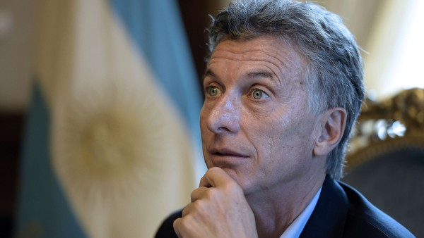 "Argentina's President Mauricio Macri off...Argentina's President Mauricio Macri offers an interview to AFP at the Casa Rosada presidential palace in Buenos Aires on February 22, 2016. Macri won elections in November 2015, ending 12 years of leftist and crisis-ridden rule by the late Nestor Kirchner and his wife Cristina. US President Barack Obama will travel to Argentina next month, offering support to Macri's efforts to end a decade-and-a-half of financial isolation and political enmity with Washington. Macri ""signaled that he'd like to have closer economic and diplomatic cooperation with the United States,"" said top Obama foreign policy aide Ben Rhodes, announcing Obama's visit. AFP PHOTO / JUAN MABROMATAJUAN MABROMATA/AFP/Getty Images"