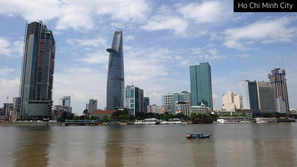One symbol of Vietnam's growing economic power is the high-rise skyline of the financial district in Ho Chi Minh City