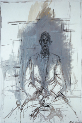 Portrait of James Lord by Alberto Giacometti