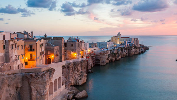 The town of Vieste in the Gargano region of Puglia