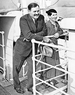 Ernest Hemingway and his second wife Pauline