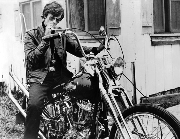 Peter Fonda on a motorcycle in 'The Wild Angels' (1966)