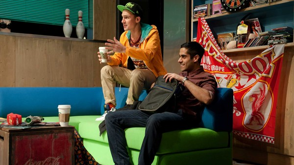 Henry Lloyd-Hughes and Sacha Dhawan in 'NSFW' at the Royal Court