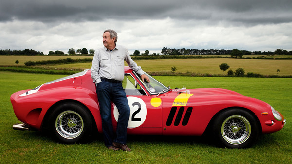 Nick Mason with his Ferrari 250 GTO