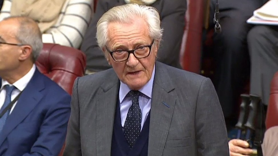 image when Heseltine sacked as adviser after rebelling over Brexit vote
