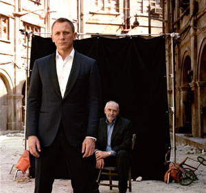 Daniel Craig and Michael Wilson on the set of 'Skyfall'