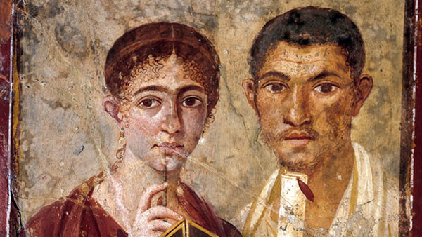 Double portrait of Terentius Neo and his wife