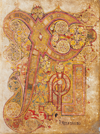 Folio34r: Face of Christ at the top.