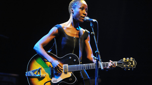 Rokia Traoré on stage at the Royal Festival Hall