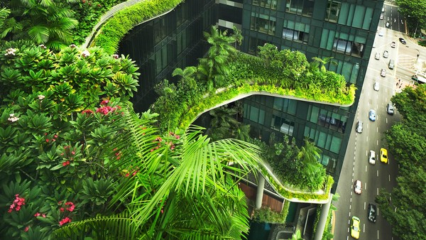 Parkroyal on Pickering, a hotel in Singapore designed by WOHA Architects