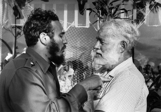 Fidel Castro and Ernest Hemingway in 1960