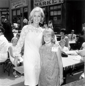 Tippi Hedren with her daughter, actress Melanie Griffith