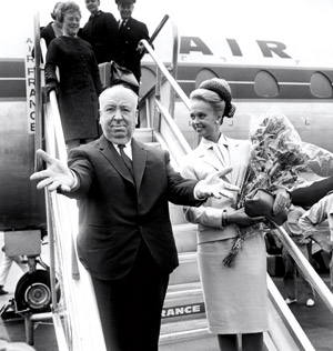 Tippi Hedren and Alfred Hitchcock