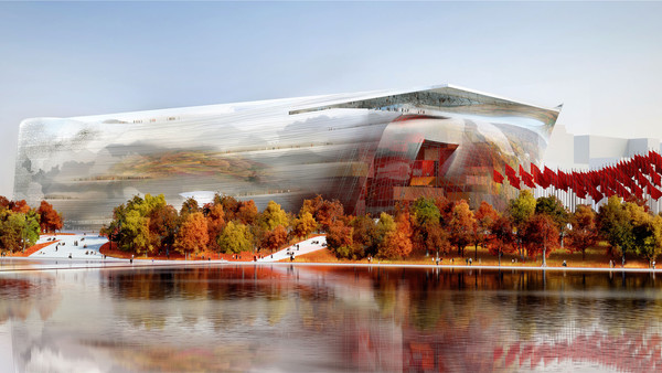 Image of Jean Nouvel's design for the mammoth National Art Museum of China