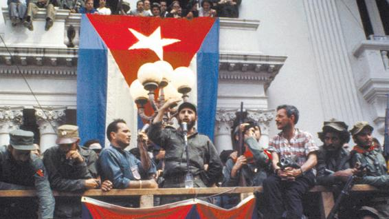 Fidel Castro at the Palacio Municipal, January 1959