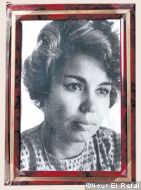A photograph of a young El Saadawi