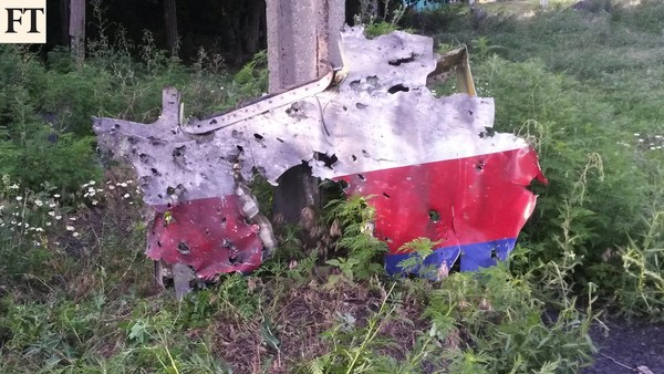 MH17 wreckage in Ukraine