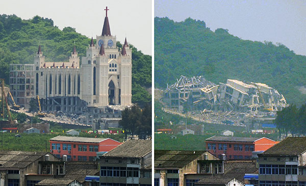 The demolition of the Sanjiang church in Wenzhou on April 28 marked the start of a state campaign to rein in the rise of Christianity. This has included harassment, detentions, removing crosses and destroying churches in Wenzhou and throughout Zhejiang Province