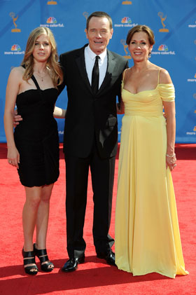 Bryan Cranston with daugter Taylor (left) and wife Robin at The 62nd Primetime Emmy Awards