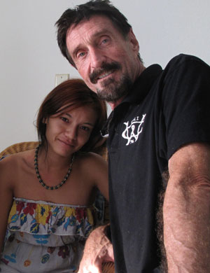 John McAfee and girlfriend Samantha