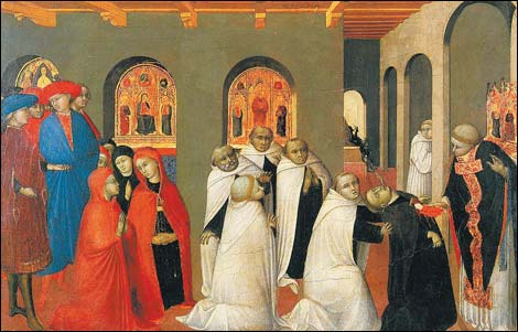 'The Miracle of the Eucharist' by Il Sassetta