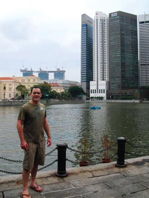 Shane Todd relaxing in Singapore, where he went to work for IME after graduating