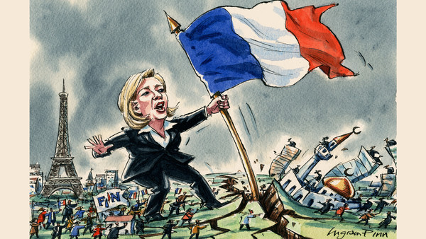 Ingram Pinn illustration, Paris