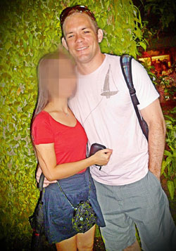Shane with his girlfriend on an outing to Singapore Zoo in May 2012