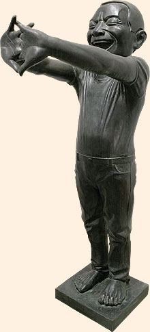'Contemporary Terracotta Warrior No. 10' (2007) by Yue Minjun at Rhona Hoffman Gallery