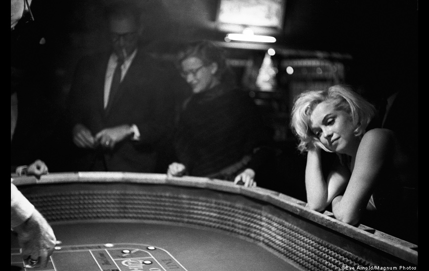 Marilyn Monroe at a casino in Reno, US, during the filming of 'The Misfits', 1960