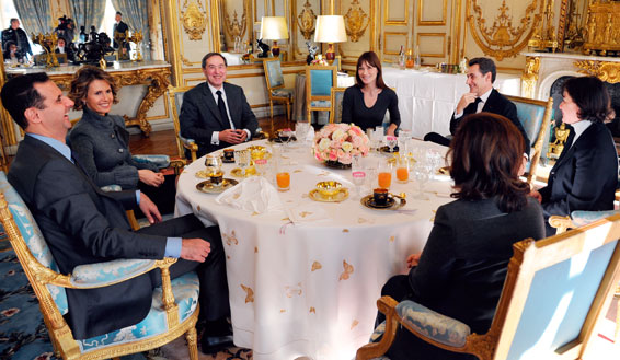 The Assads with former French president Sarkozy