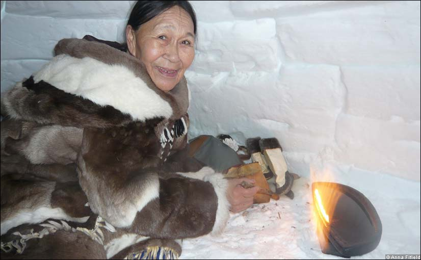 Inuits once used seal blubber to heat igloos but now increasingly use store-bought vegetable oil.