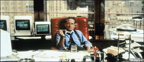 Michael Douglas as Gordon Gekko in 'Wall Street'