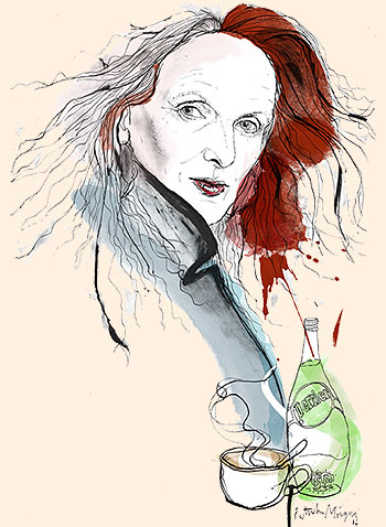 Patrick Morgan's illustration of Grace Coddington