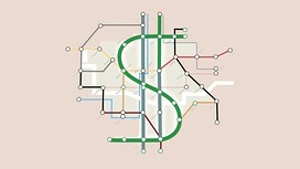 Illustration by Luis Grañena of a US dollar sign over a map of Paris