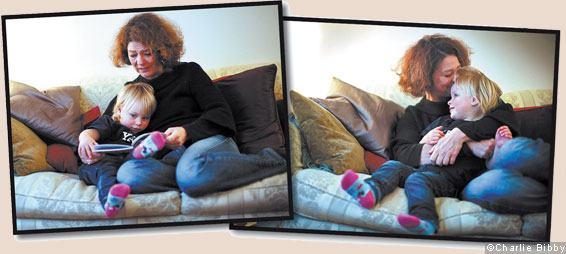 Kate Burgess with her daughter Katya at home in south London