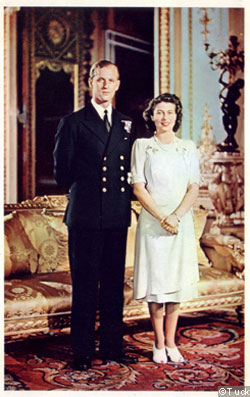 On her engagement to Lieutenant Philip Mountbatten in 1946